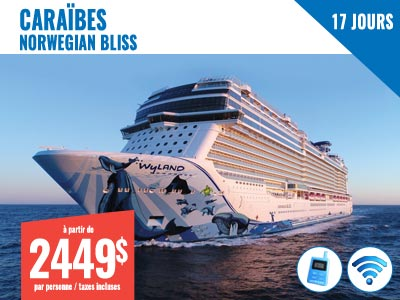 Voyage organisé à New York - NCL Bliss 14 jours Caraïbes + 3 jours NY